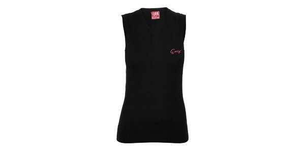Dámská pletená vesta Envy v černé barvě