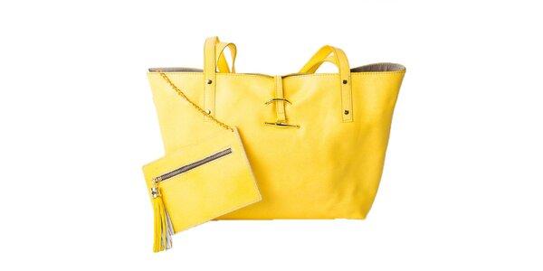 Dámská kanárkově žlutá taška s peněženkou Pelleteria