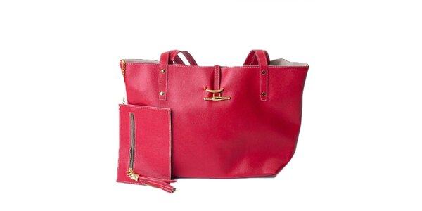 Dámská jahodově červená taška s peněženkou Pelleteria
