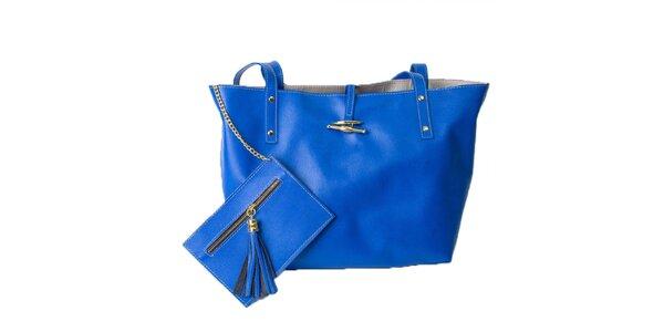 Dámská sytě modrá taška s peněženkou Pelleteria