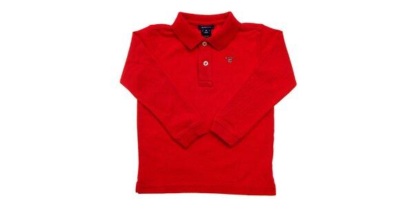 Dětské červené polo Gant