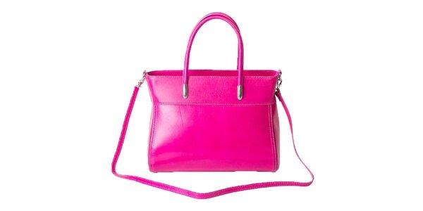 Dámská sytě růžová kabelka Pelleteria