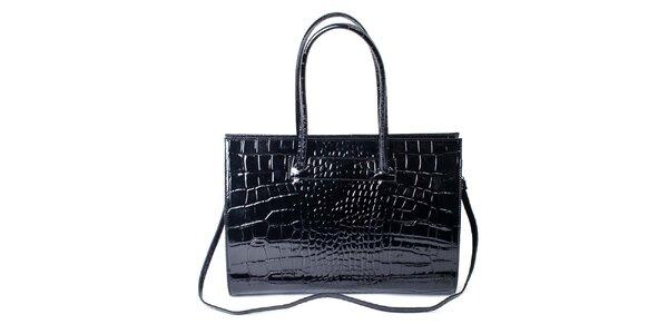 Dámská lakovaná kabelka s motivem šupin Pelleteria
