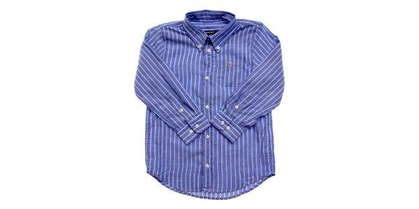Dětská modrá proužkovaná košile Gant