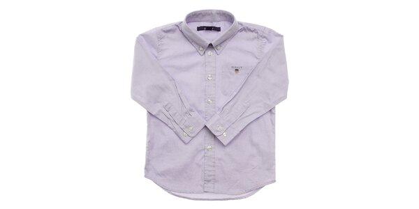 Dětská světle modrá košile Gant