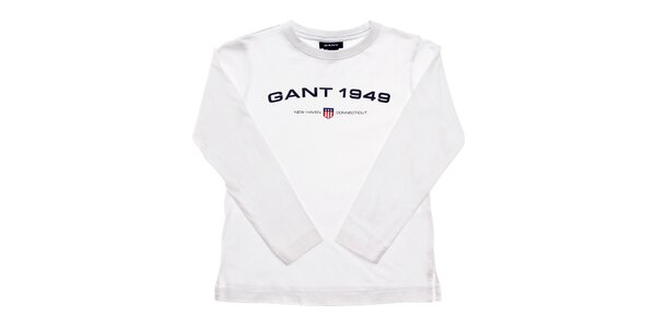 Dětské bílé tričko Gant s potiskem