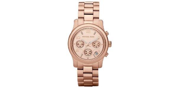 Dámské hodinky z ušlechtilé oceli v barvě růžového zlata Michael Kors