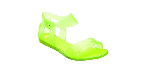 Dámské žlutozelené sandálky Mel