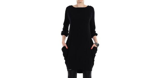 Dámské černé šaty s kapsami na bocích Yulia Babich