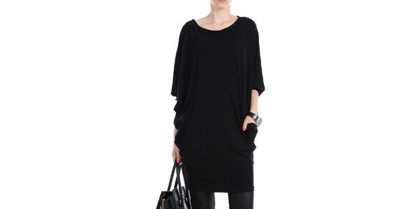Dámské černé volné šaty s kapsami na bocích Yulia Babich