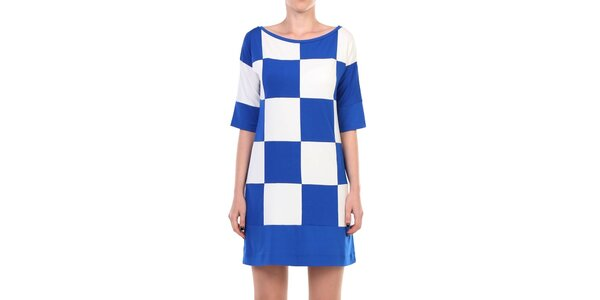 Dámské modro-bíle kostkované šaty Yulia Babich