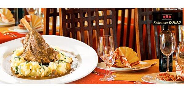 Degustační menu o 4 chodech v Restauraci KORAS