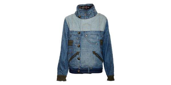 Dámská džínová bunda se stojáčkem Desigual