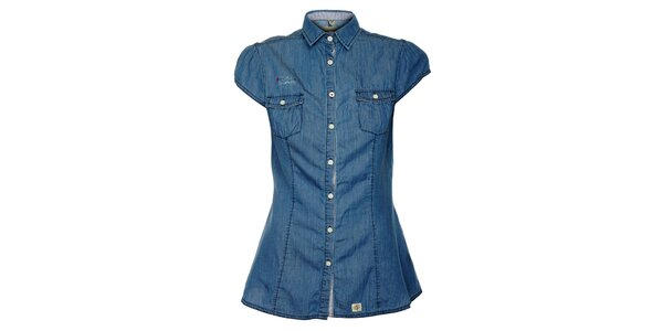 Dámská džínová košile s krátkými rukávy ZU elements