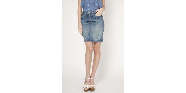 Dámská modrá denimová úzká sukně Tantra