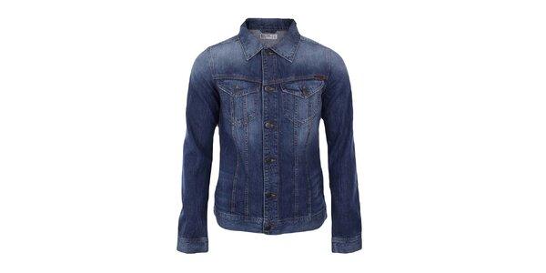 Pánská modrá džínová bunda s šisováním Big Star