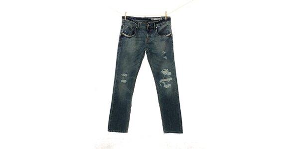 Pánské modré džíny Tommy Hilfiger s dírami
