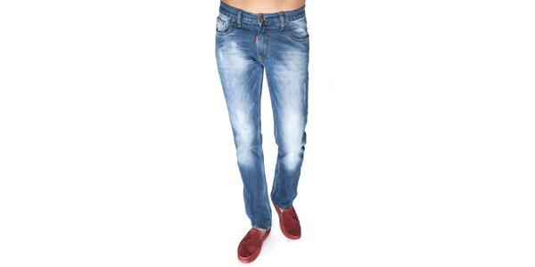 Pánské šisované džíny v modré barvě Giorgio di Mare