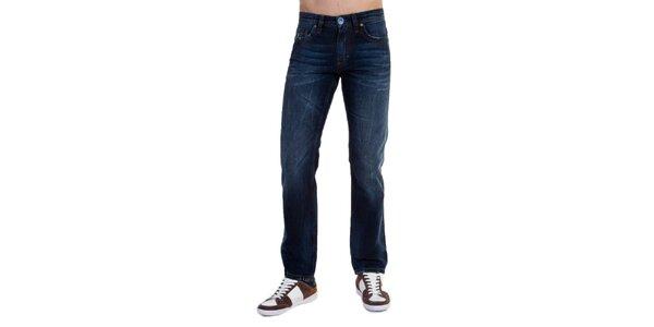 Pánské modré džíny s šisováním Galvanni