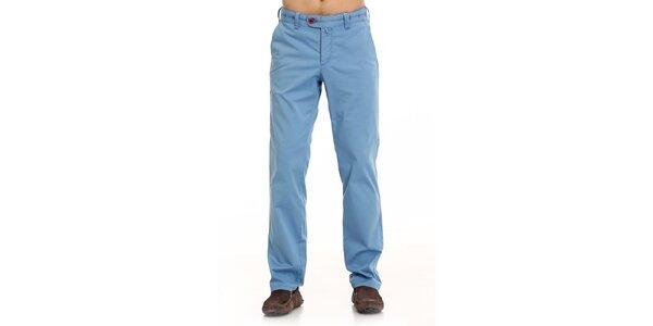 Pánské modré plátěné kalhoty Galvanni