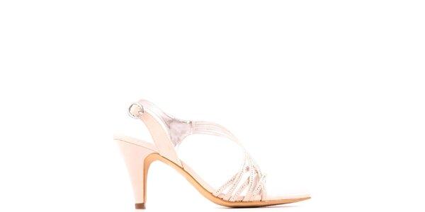 Dámské slonovinové páskové sandálky Les Provencales a626053176