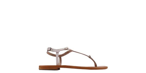 Dámské kožené sandály v bílé barvě les Tropeziennes