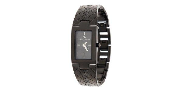 Dámské černé ocelové hodinky Tom Tailor