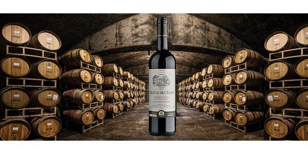 Francouzské víno Chateau l'Eglise z Côtes de Bordeaux Bordeaux 2010