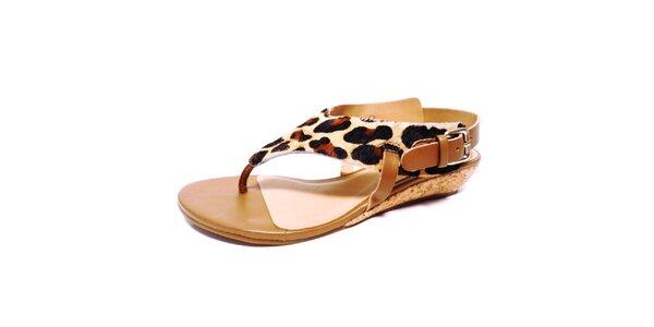Dámské sandálky s leopardím vzorem Via Uno
