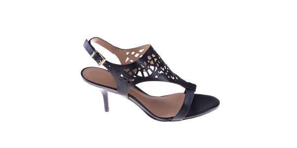 Dámské černé sandálky s perforací Via Uno