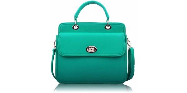 Dámská zelenkavá kabelka se zámečkem Nubiz