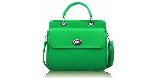 Dámská zelená kabelka se zámečkem Nubiz