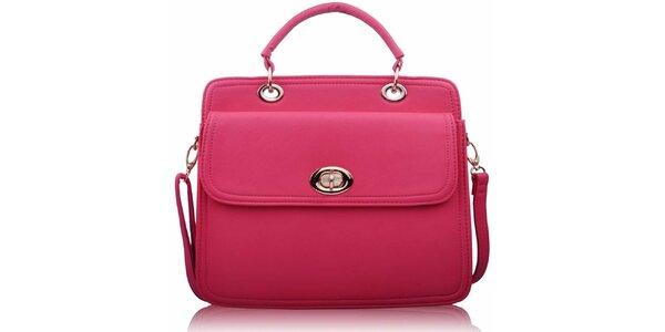 Dámská růžová kabelka se zámečkem Nubiz