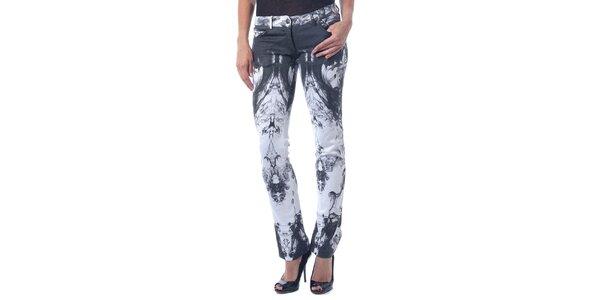 Dámské černo-bílé kalhoty Seven LA