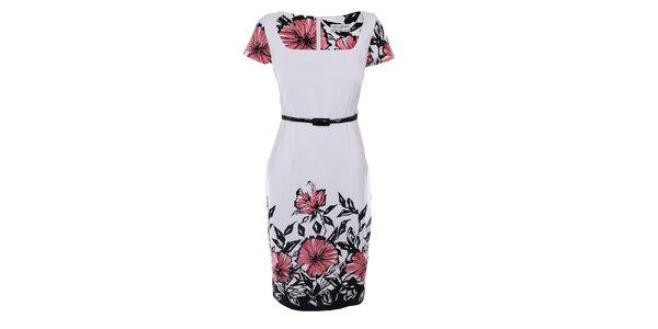 Dámské bílé šaty s potiskem Melli London