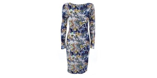 Dámské šaty s barevným květinovým potiskem Melli London
