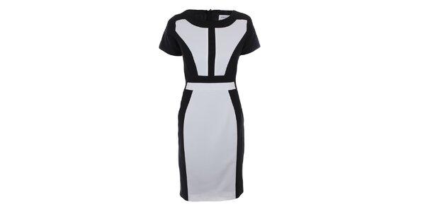 Dámské černo-bílé šaty Melli London