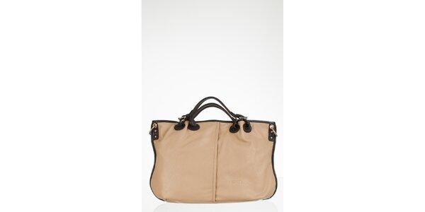 Krémová prostorná kabelka