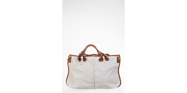 Bílá prostorná kabelka