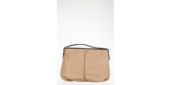 Jednoduchá krémová kabelka
