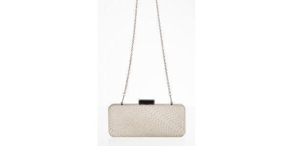 Smetanová kabelka s motivem hadí kůže