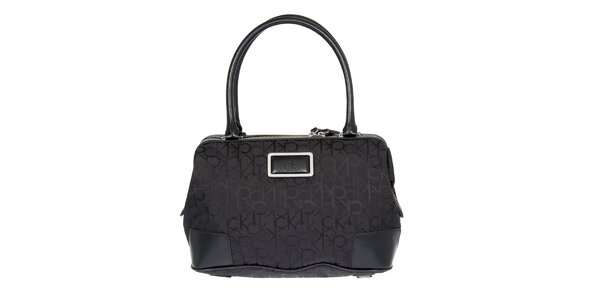 Dámská černá kabelka s potiskem Calvin Klein