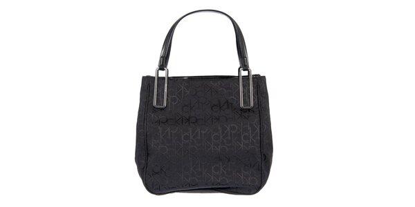 Dámská látková černá taška Calvin Klein s potiskem