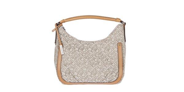 Dámská smetanová kabelka s potiskem Calvin Klein Jeans