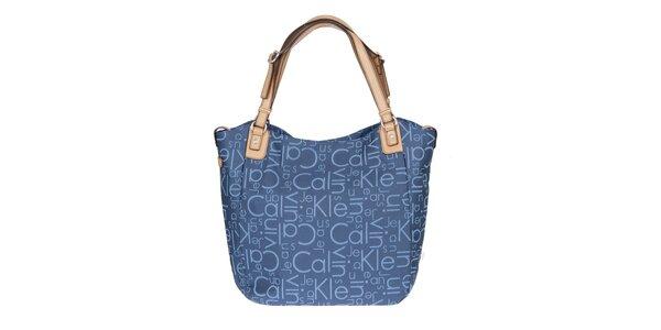 Dámská potištěná kabelka v modré barvě Calvin Klein Jeans
