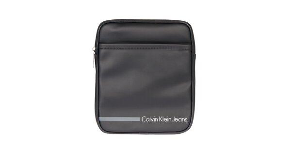 Pánská černá taška přes rameno s šedým proužkem Calvin Klein Jeans