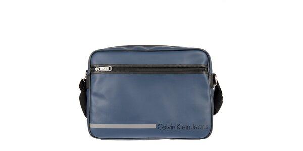 Pánská tmavě modrá taška přes rameno s vnější kapsou Calvin Klein Jeans