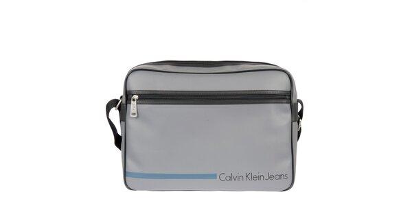 Pánská šedá taška přes rameno s vnější kapsou Calvin Klein Jeans