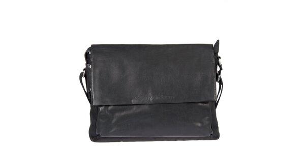 Pánská černá taška s klopou Calvin Klein Jeans