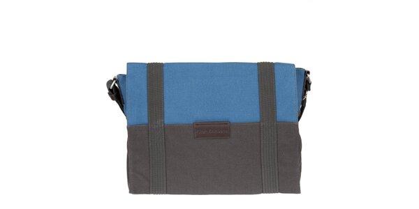 Pánský antracitově-modrý messenger Calvin Klein Jeans